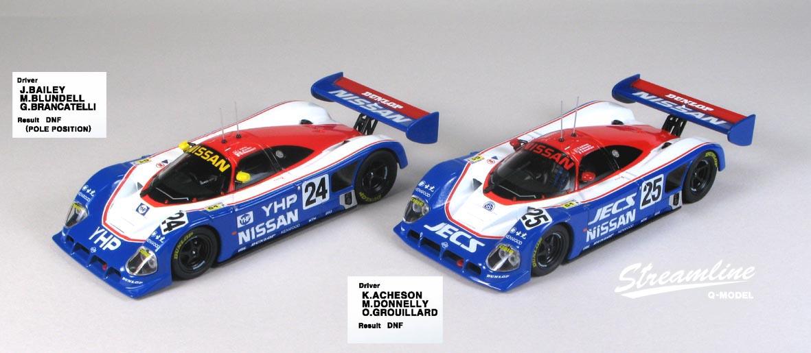 Q-Model Streamline #24 Nissan R90CK Bailey//Blundell//Brancatelli 1:43 Scale